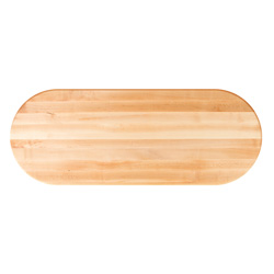 John Boos Oval Maple Edge Grain Butcher Block Table Tops & Bases