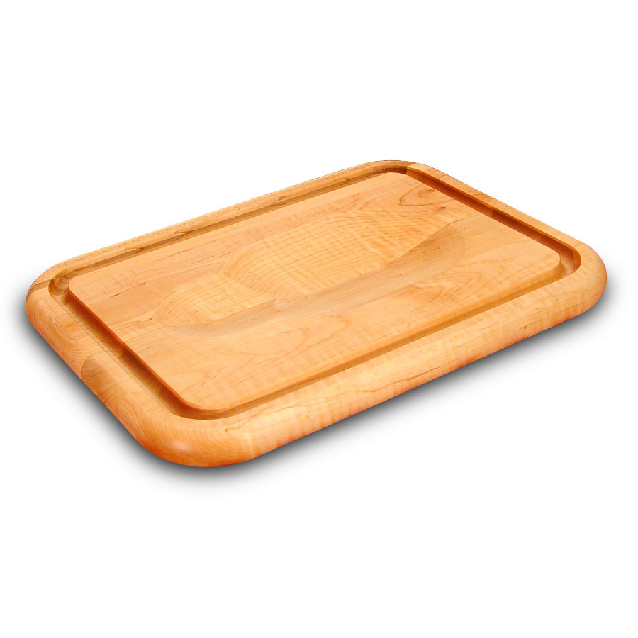 Catskill Small Wedge-Trench Carving Board with Juice Groove and Wedge for Holding Meat