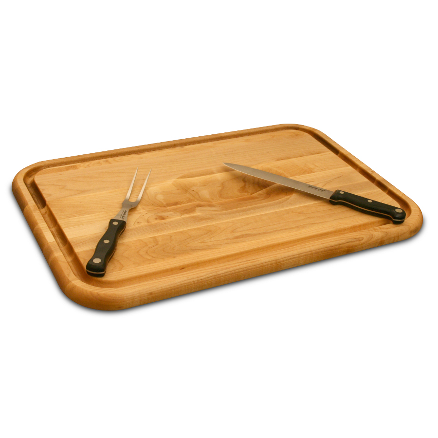 Carving Board With Meat Wedge Amp Trench Juice Groove