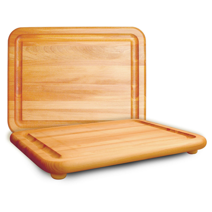Catskill Jumbo Carving Board with Wooden Feet & Groove - 19