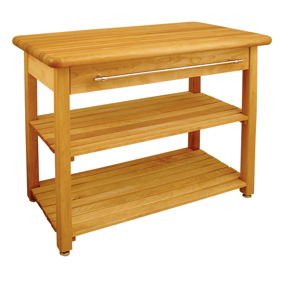Catskill Contemporary Harvest Table with Butcher Block Top Model 1448