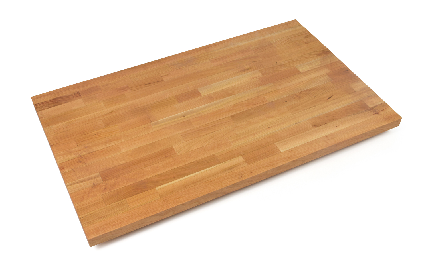 1.5 in. thick blended cherry butcher block counters 27 inches wide