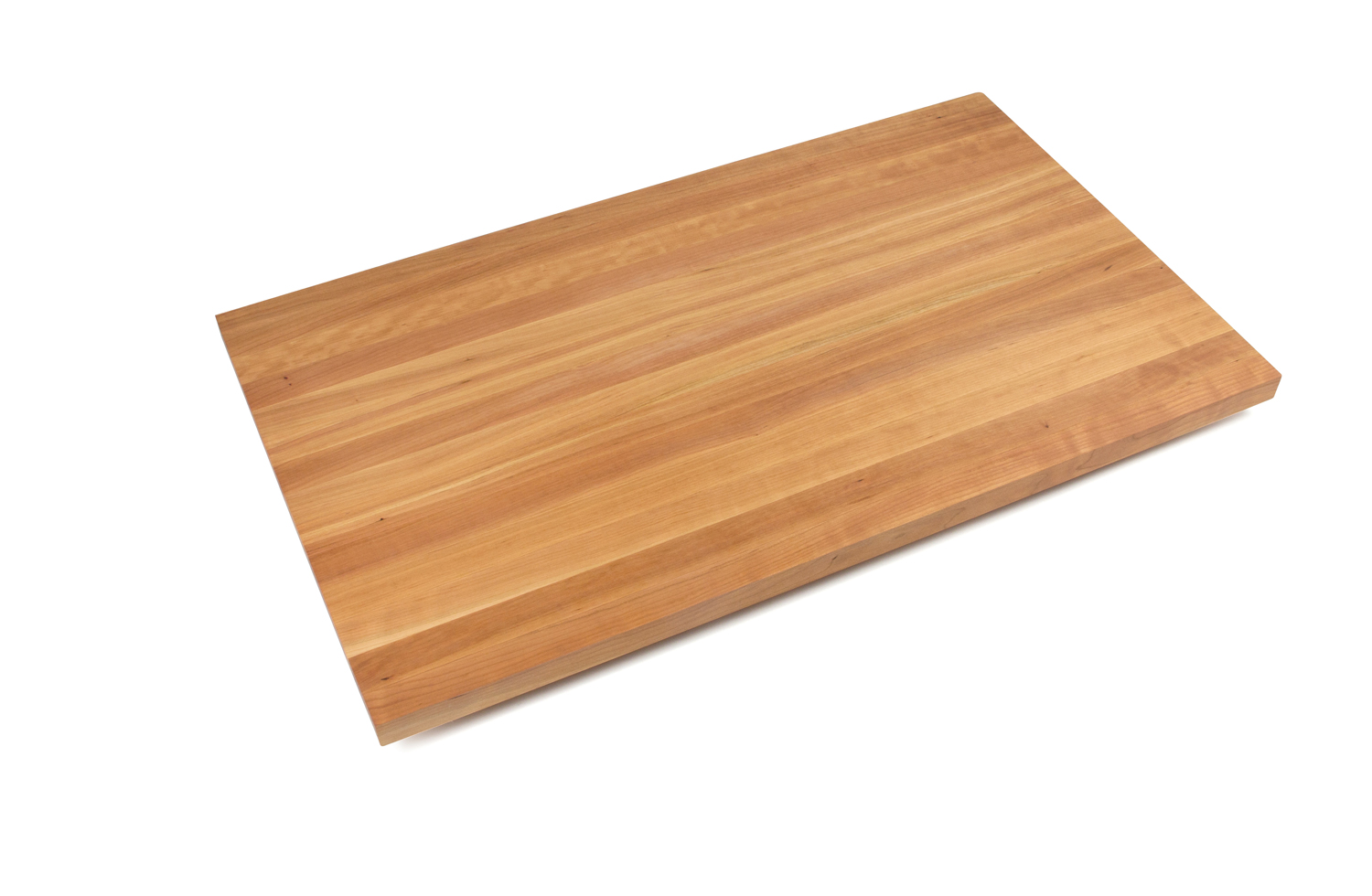 1.5 inch thick edge grain cherry butcher block countertops 27 inches wide, 1.5 inch thick