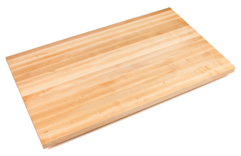 1.5 inch thick edge grain maple butcher block counters