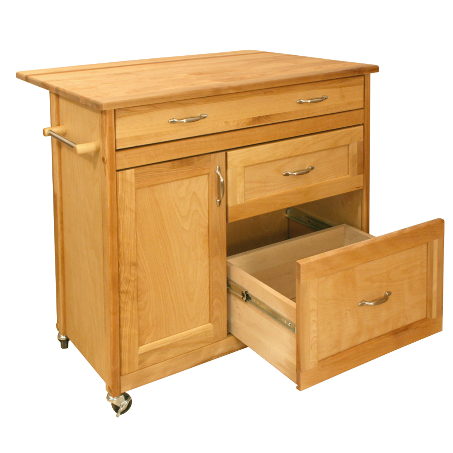 Catskill Mid Sized Drawer Kitchen Island Cart