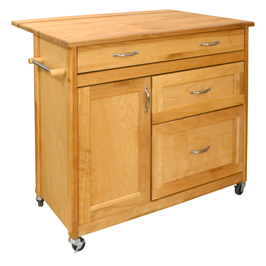 Catskill Portable Island With Large Drawers