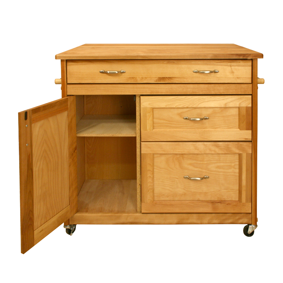Merveilleux Mid Sized Drawer Kitchen Cart From Catskill