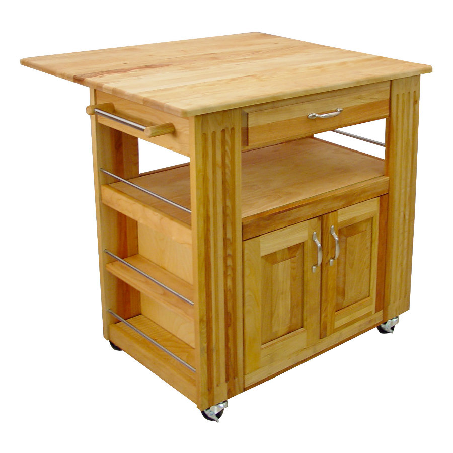 Catskill Drop Leaf Heart of the Kitchen Island Portable Cart