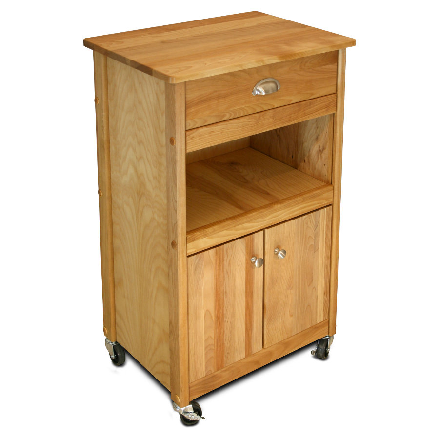 Catskill Storage Cart with Closed Cabinet and Open Shelf