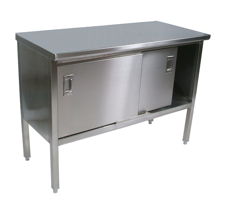 Boos Stainless Steel Enclosed Base Cabinet w/ Sliders - 16-Gauge SS Top