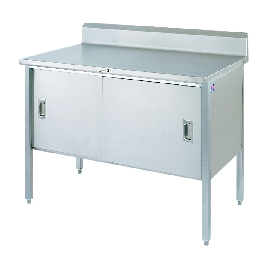 Stainless Steel Work Table Enclosed Base Cabinet - Enclosed stainless steel work table