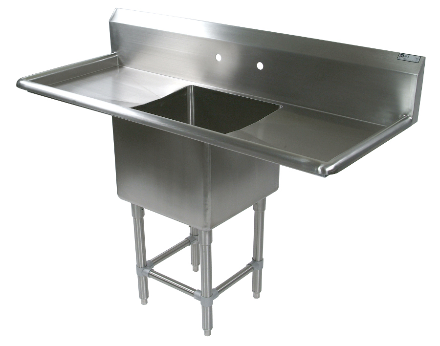 John Boos NSF Pro Bowl Compartment Sink - 1 Bowl, 2 Drainboards