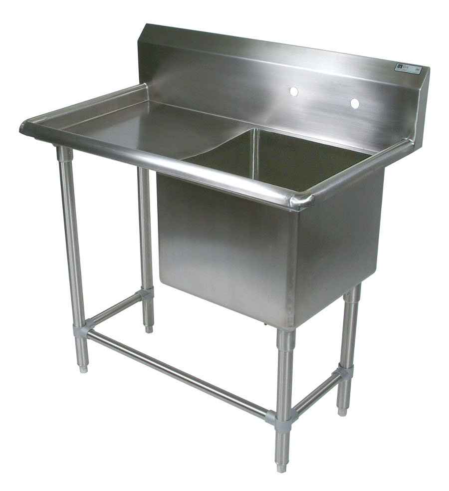 John Boos NSF Pro Bowl Compartment Sink - 1 Bowl, 1 Drainboard