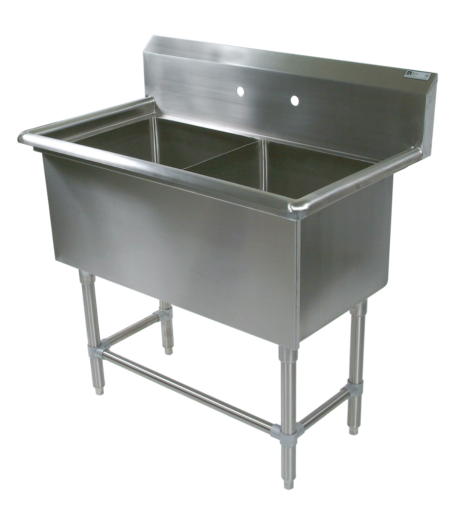 John Boos NSF Pro Bowl Compartment Sink - 2 Bowls, No Drainboard