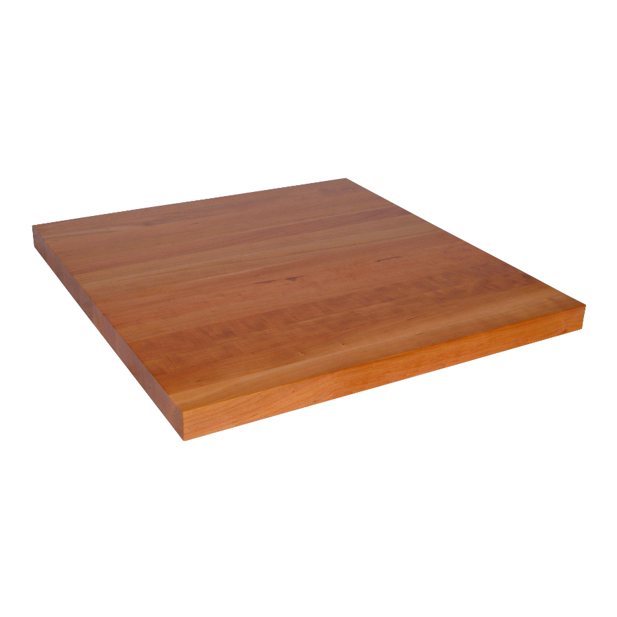cherry countertop 48 inches wide, 3 inch thick edge grain
