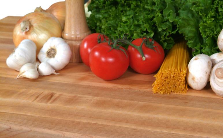 38 inch wide maple counter top, 3 inch thick maple edge grain