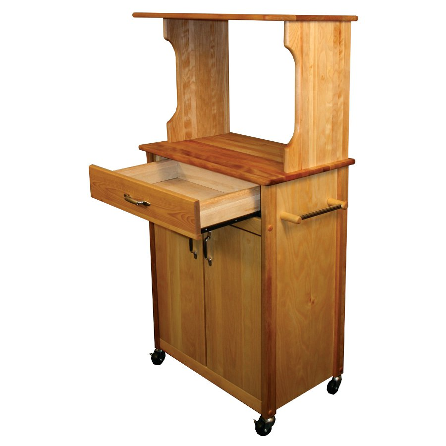 Microwave Space Saver Cart by Catskill Craftsmen