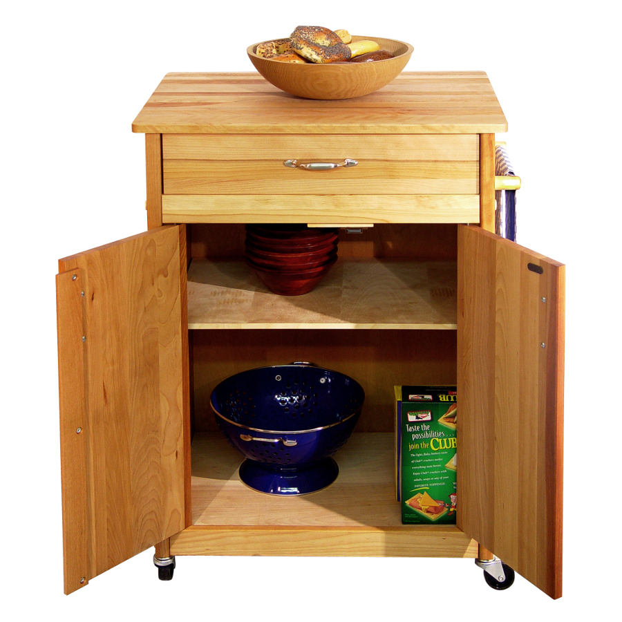 Catskill 51527 Butcher Block Cabinet Cart