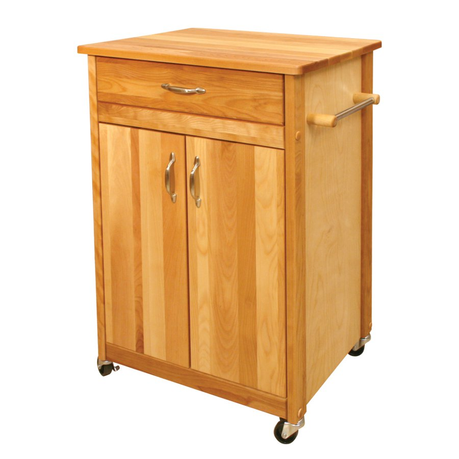 Model 51527 Catskill Butcher Block Cart with Towel Bar