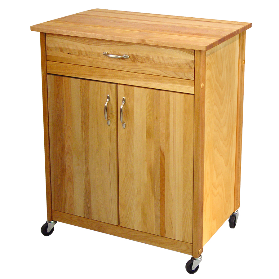 Catskill Mid-Size Two-Door Butcher Block Cart