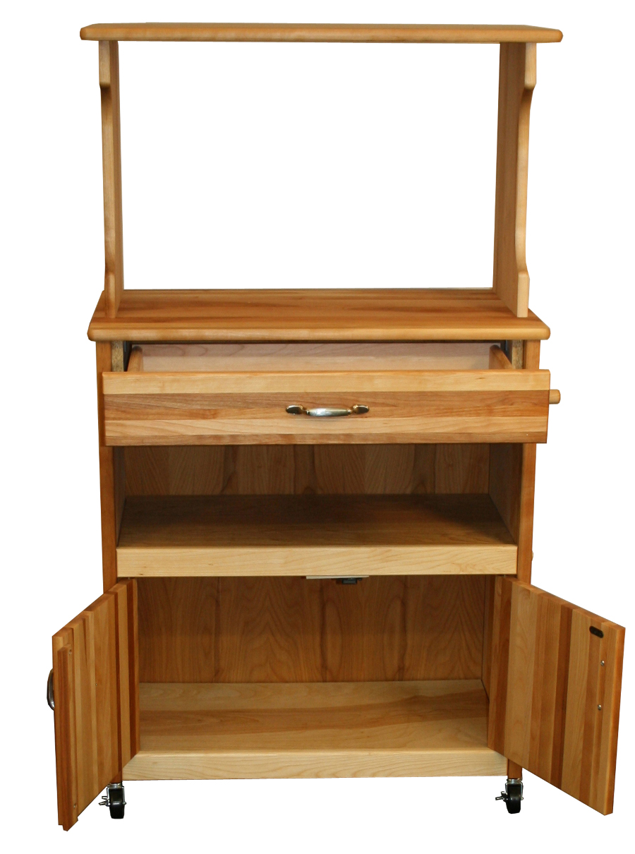Catskill Space-Saving Microwave Cart - Catskill Craftsmen