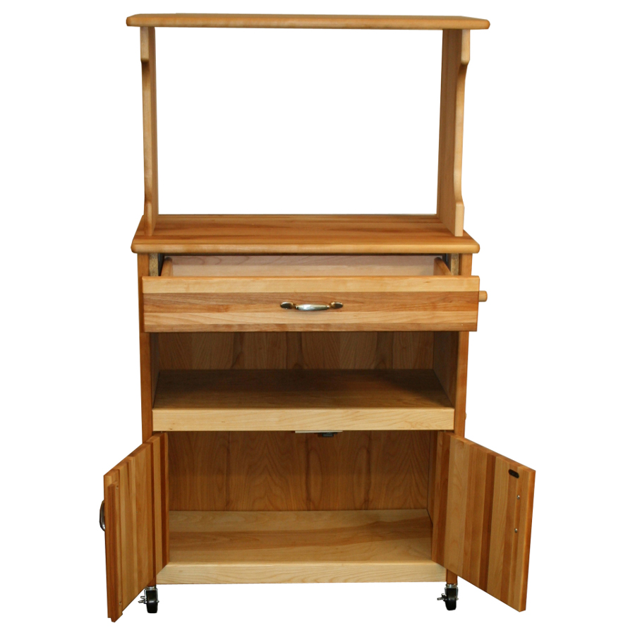 Microwave Cart With Storage Cabinet, Shelf U0026 Drawer   Model 51576