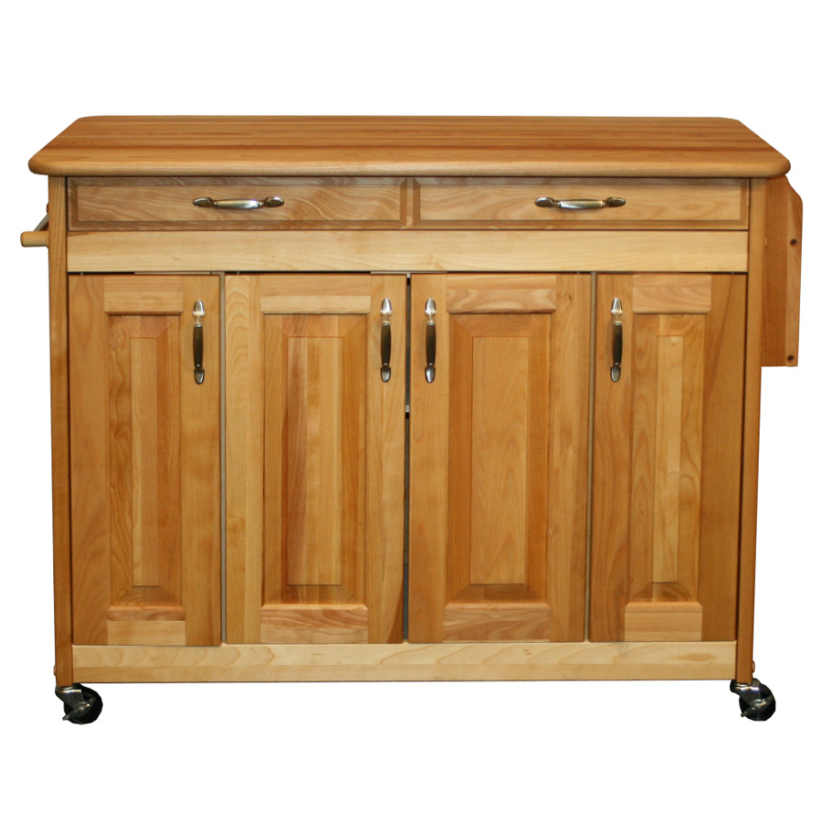 Movable Butcher Block Kitchen Island - Catskill model 54220
