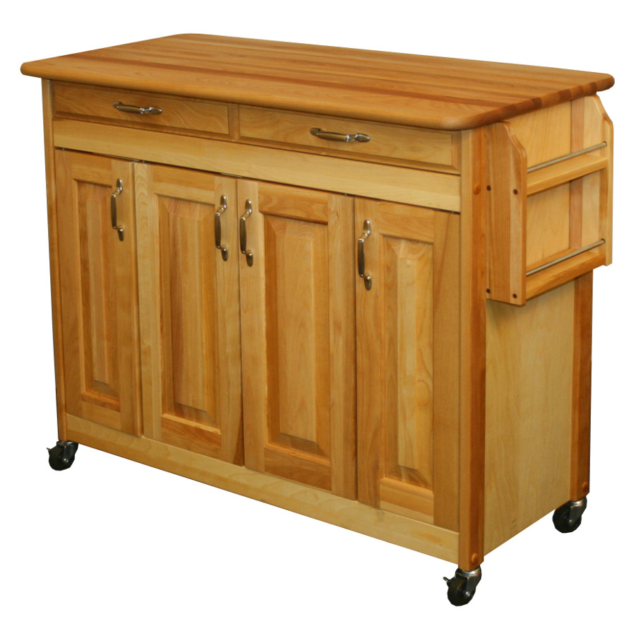 Butcher Block Island with Raised Panel Doors - Catskill mpn 54220