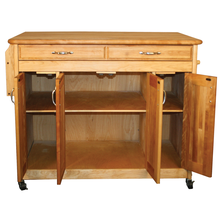 54230 Catskill Island Cart with Butcher Block Cart
