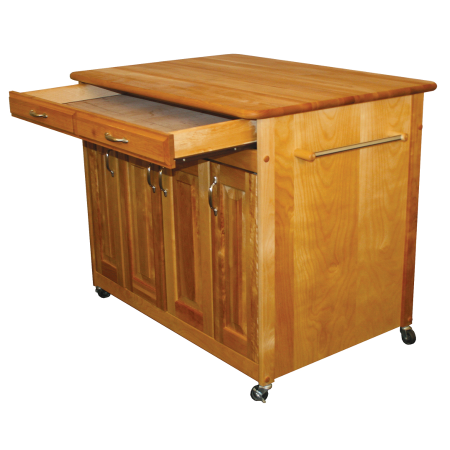 Catskill Butcher Block Cart with Raised Panel Doors