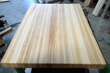 edge-grain ash countertop butcher block