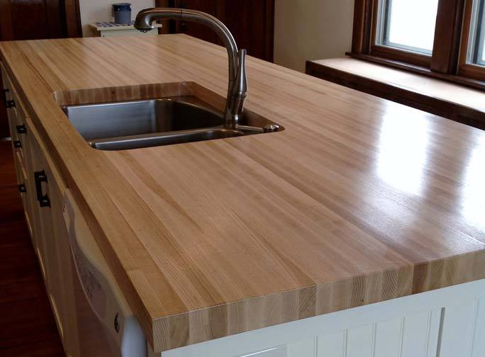 ash edge grain butcher block kitchen island
