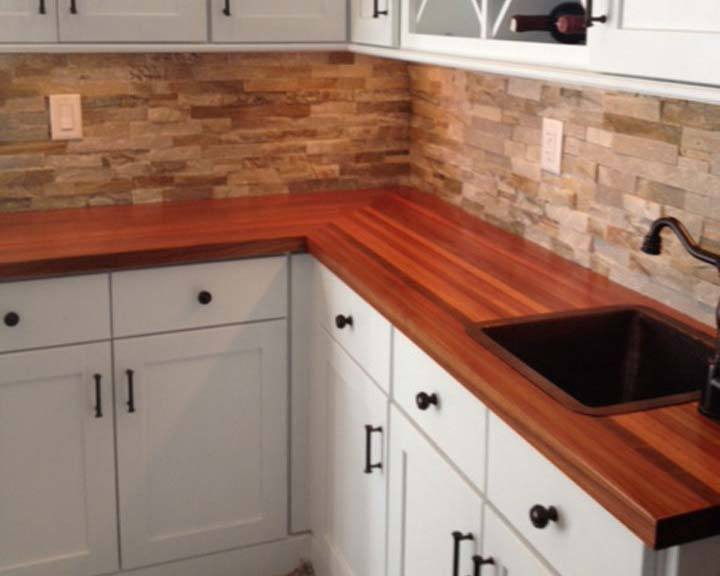 Brazilian cherry butcher block countertop