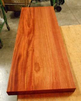 unfinished plank countertop brazilian cherry