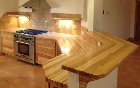 hickory butcher block counters