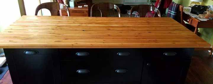 knotty alder edge-grain butcher block countertop