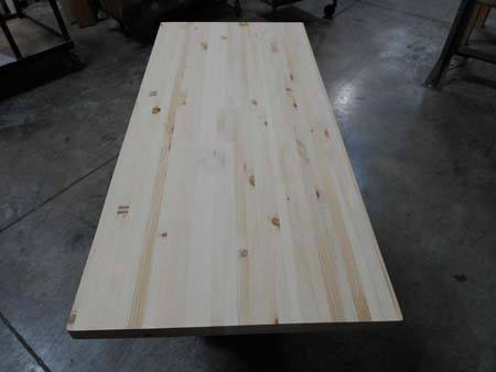 knotty pine butcher block, unfinished