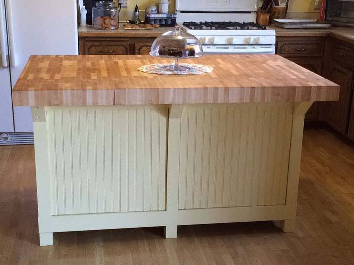 end-grain maple butcher block island