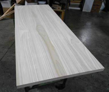 poplar countertop in plank style