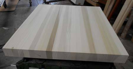 poplar countertop of edge-grain butcher block