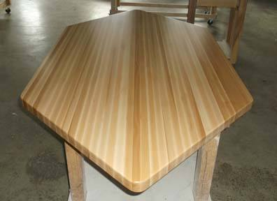 edge-grain poplar butcher block counters