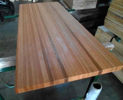 edge-grain oak butcher block