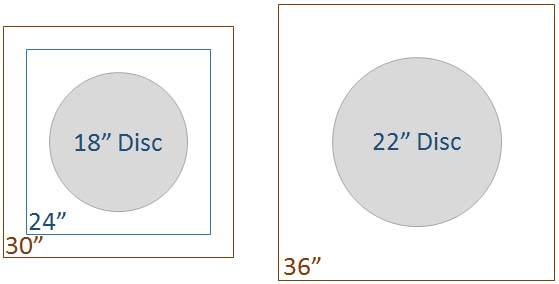 disc base under round table tops