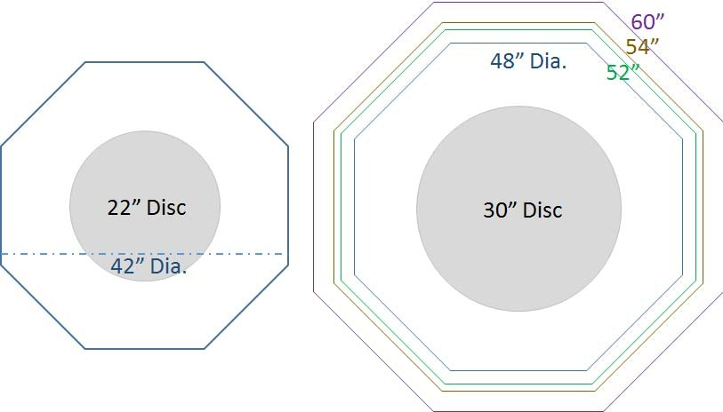 octagonal table discs