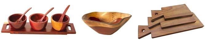 wooden serveware