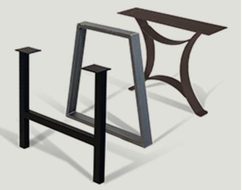 hard wood slab tables and bases