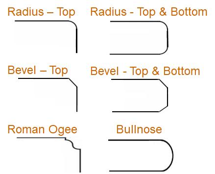 Custom Countertop Edge Styles