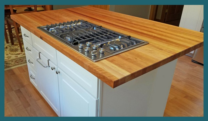 cherry edge grain countertop