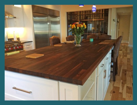 blended walnut custom countertop