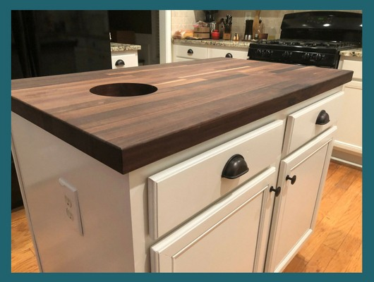 blended walnut countertop custom